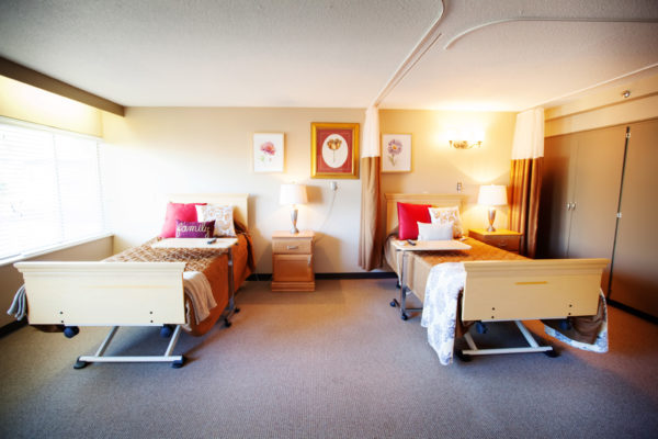 Resident room at Shaw Mountain of Cascadia a skilled nursing facility in Boise, Idaho