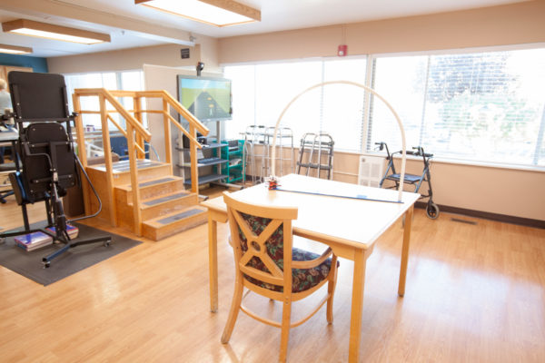 Therapy area at Shaw Mountain of Cascadia a skilled nursing facility in Boise, Idaho